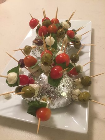 boxmoor foodies cheese on a stick one of the canapes for 80s