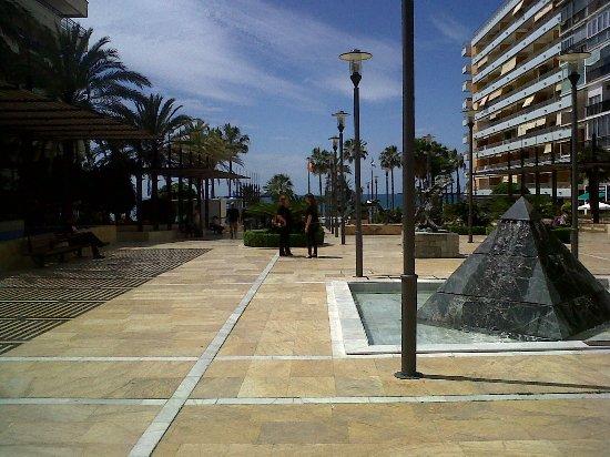 Sand castles along the marbella boardwalk picture of - Boardwalk marbella ...
