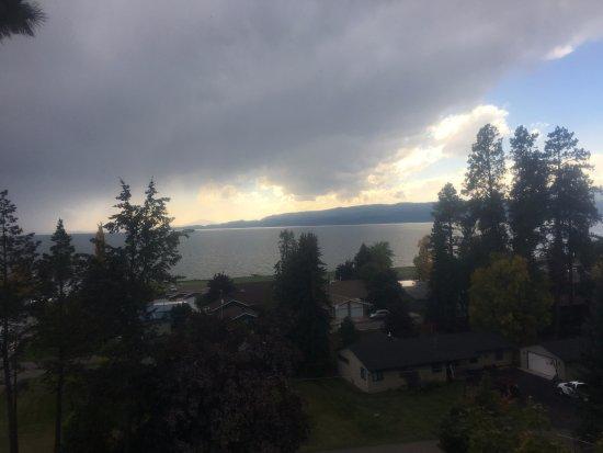 Bigfork, MT: View of Flathead Lake from deck