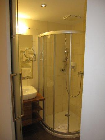 Hotel Lohningerhof: Badrummet.