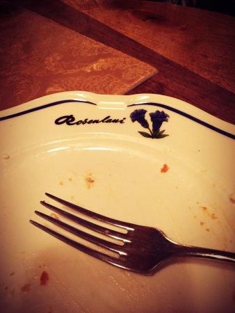 Rosenlaui Hotel: Feiner Früchtekuchen