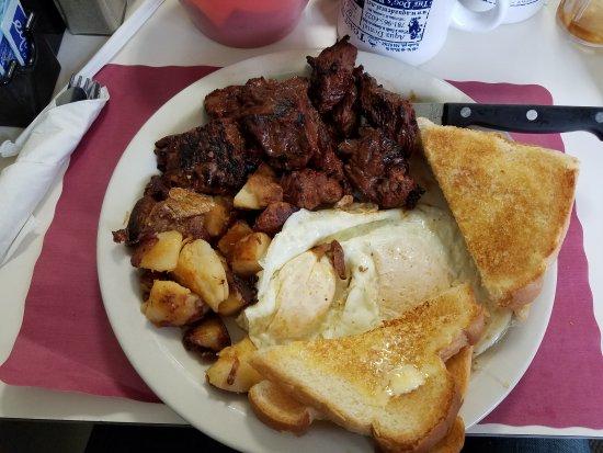 Randolph, MA: Steak and eggs!