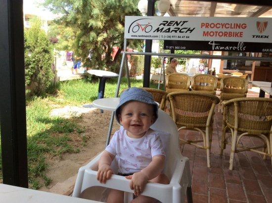 Tamarells: Nice atmosphere and babies wrlcome