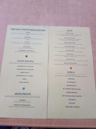 Corissia Beach Hotel: Mittagsspeisekarte HPplus