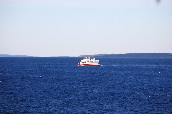 Owls Head, ME : One of the many Coast Guard vessels passing by the light.