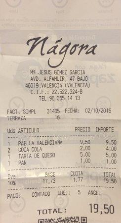 Restaurante Nagora: salgo pagando el doble.