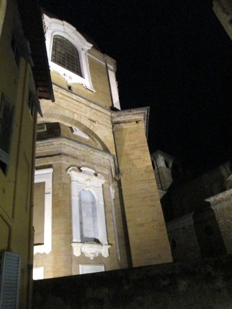 Corte dei Medici: View from my bedroom window at night