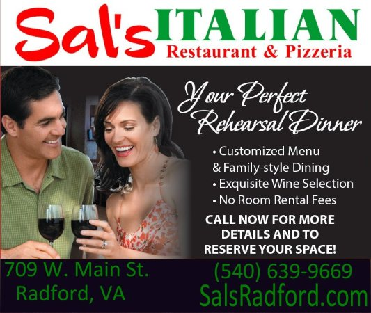 Sal's Italian Restaurant & Pizzeria : Call today for a special party. We have rooms that fit up to 50 people
