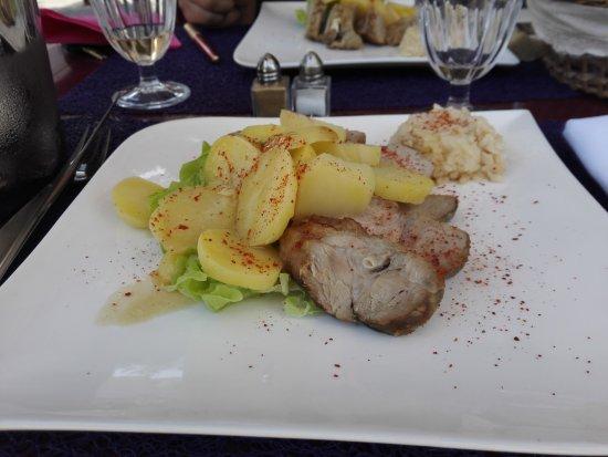 Sainte-Livrade-sur-Lot, Франция: le plat copieux