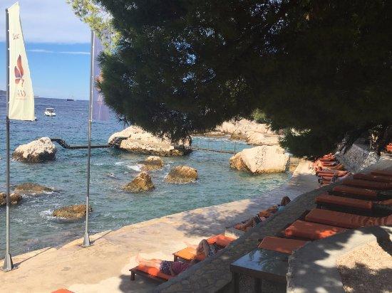 Hotel Podstine: Private beach