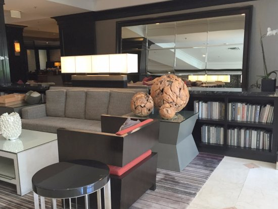"Hyatt Regency Long Island: Lobby seating (and ""library"" ..."