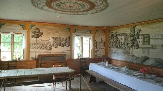 Aland Island, Finland: Stora rummet i mangårdsbyggnaden på Jan Karlsgården