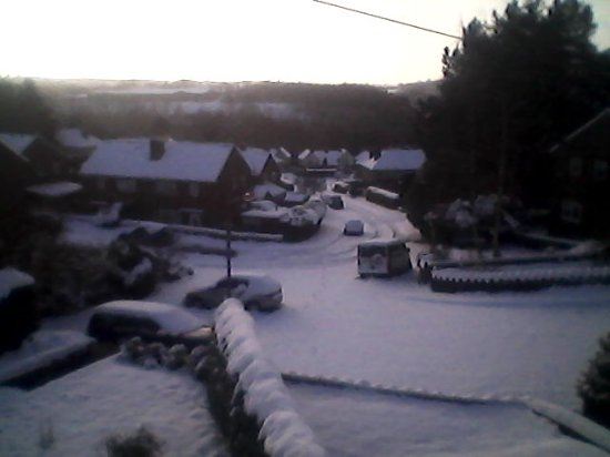 Crich, UK: Snowy day!