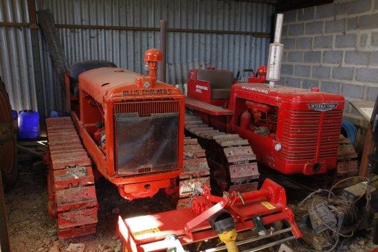 Dorrington, UK: Collection farm rolling stock