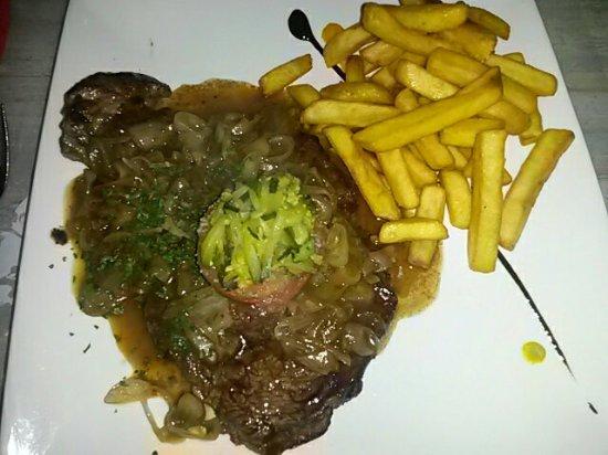 Restaurant du Chateau: Amuse bouche, plats et dessert