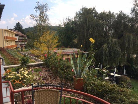Bank, Hungary: Kilátás az étterem teraszáról
