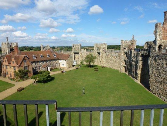 Framlingham, UK: A view inside the castle, after the school children had left.