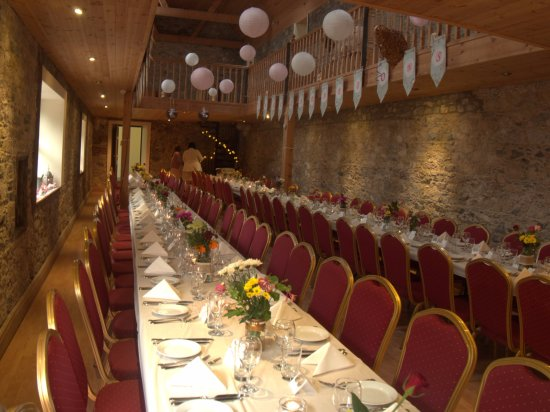 Castletownroche, Irland: Table layout can be chosen by the guests to suit their needs