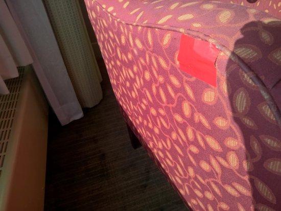 duct tape furniture. Hilton Quebec: Furniture Tapestry Fixed With Duct Tape! Tape Furniture