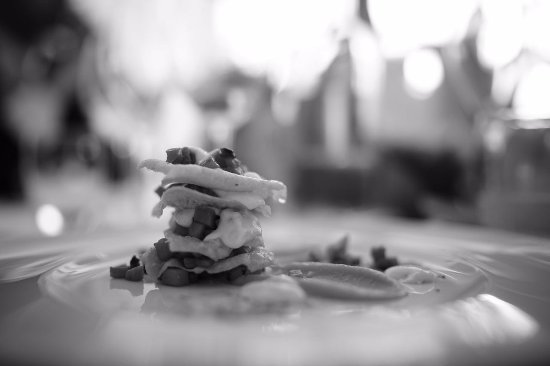 Latisana, Italia: Lasagnetta con crema di formaggio e zucca