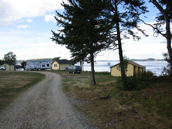 Harris Point Shore Cabins: driving in to the campground