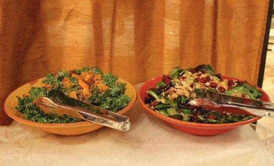 Westwood, NJ : Quinoa Butternut Kale salad and Cranberry Almond salad