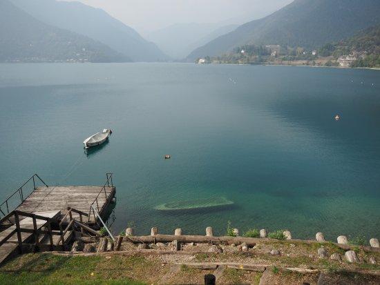 Molina di Ledro, Ιταλία: Vista del lago dal ristorante