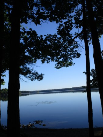 Lake Pemaquid Campground: the lake