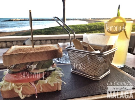 Hotel La Chancla : vegan sandwich at La Chancla, Malaga