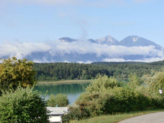 Sankt Kanzian, Austria: View to mountains over the Turner Lake
