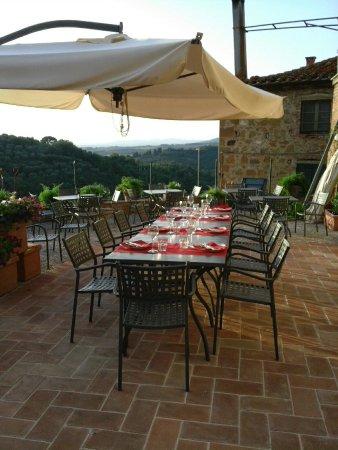 Montisi, İtalya: il giardino esterno strepitoso con una vista favolosa sulla valle