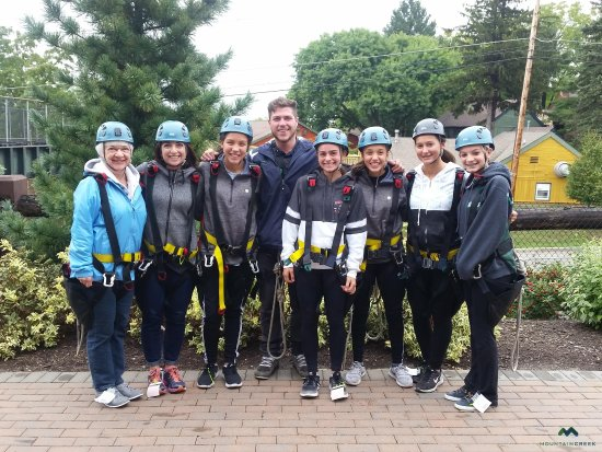 Mountain Creek Zip Tours : Our group and Doug our adventure guide! Libby took the picture!