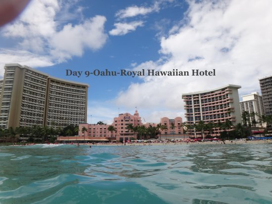 The Royal Hawaiian, a Luxury Collection Resort: Oahu - Royal Hawaiian Hotel - View from Water