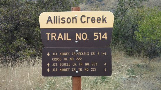 Oxbow, OR: Allison Creek Trail head