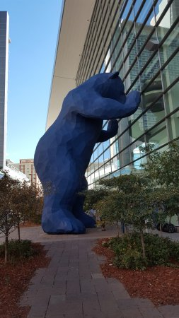 40 Foot Blue Bear At The Convention Center Picture Of