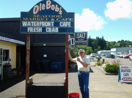 OleBob's Seafood Market and Galley Restaurant: Old Bob at Ole Bob's