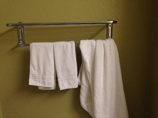 Benbrook, TX: one towel in bathroom