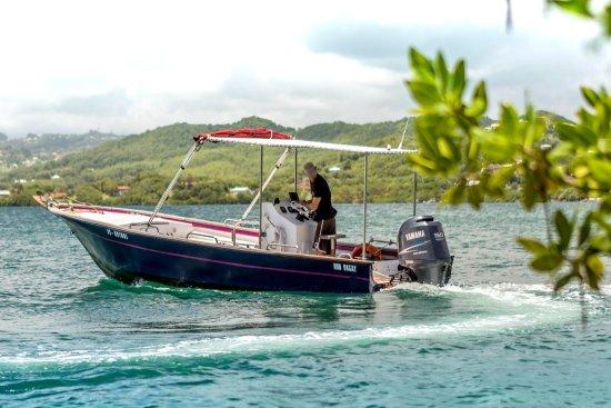 La Trinite, Martinique: Les ilets du Robert , Bon Bagay en manoeuvre