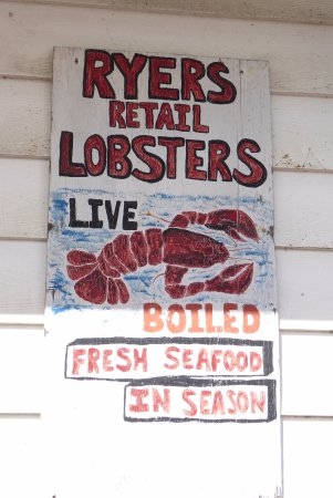 Ryer Lobsters: Their sign