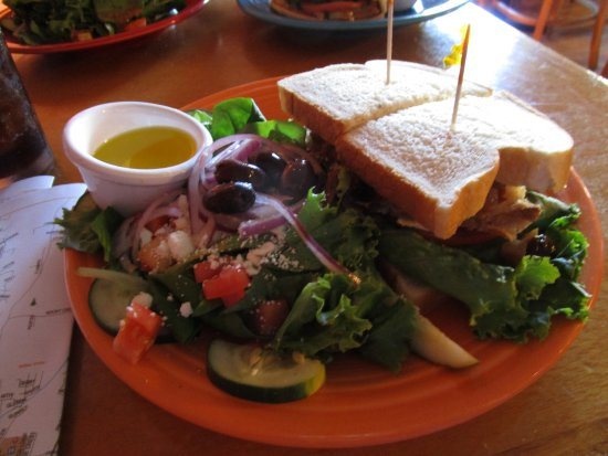 Vicki's Eatery: Turkey Sandwich with Chutney and a side salad