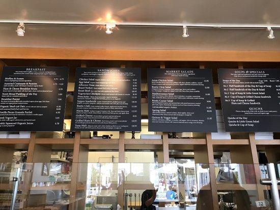 Sausalito Bakery Cafe Menu