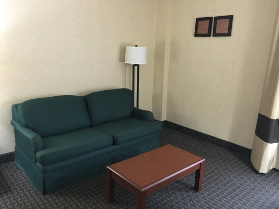 West Hazleton, PA: Very blah sofa and table