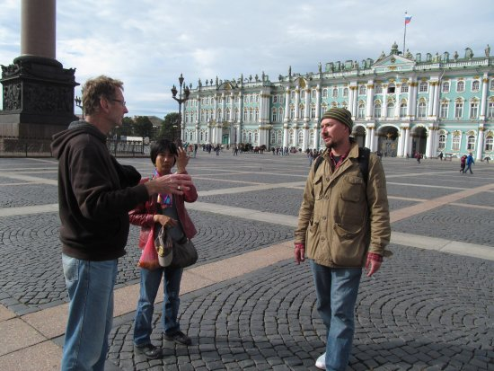 Anglo Tourismo Boat and Walking Tours: Free tour ouside the Winter Palace / Hermitage