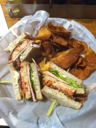 Hart, MI: Triple BLT with burnt chips