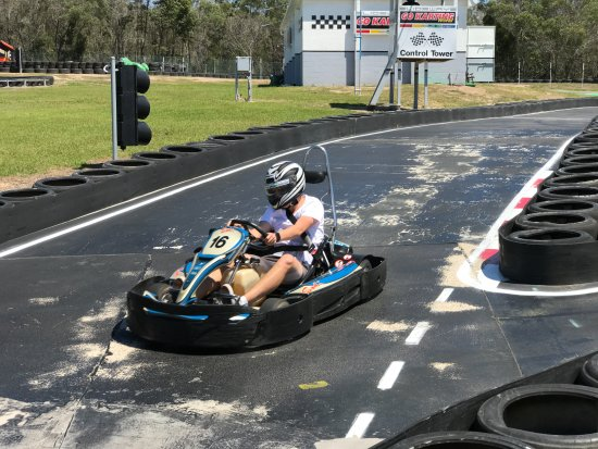 Slideways - Go Karting World: Down the straight past the finishing line