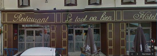 Valence, France : Fasaden af restauranten/hotellet