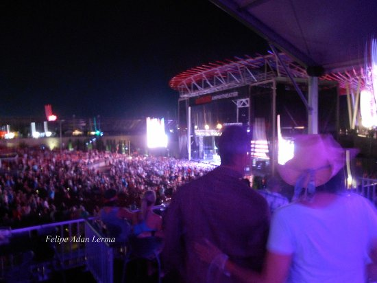 View From The Covered Vip Seating And Standing Area At