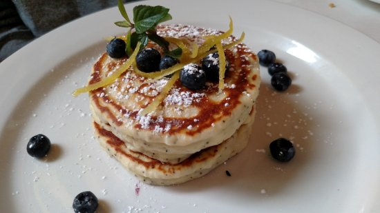 Mistral: Lemon Poppyseed Blueberry Pancakes