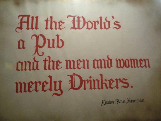 sinnige sprüche Sinnige Sprüche an der Wand   Picture of Imperial Pub, Toronto  sinnige sprüche