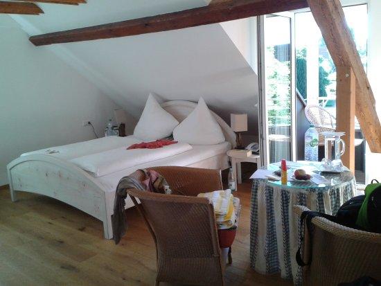 Sehr bequemes Bett Bild von Hotel Haus am See
